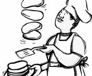 Coloring pages Professional cook
