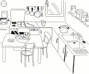 Free coloring and drawings Simple maternal cooking Coloring page