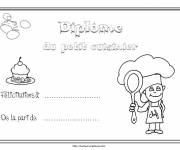 Coloring pages Small cook diploma