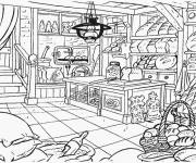 Coloring pages the bakery