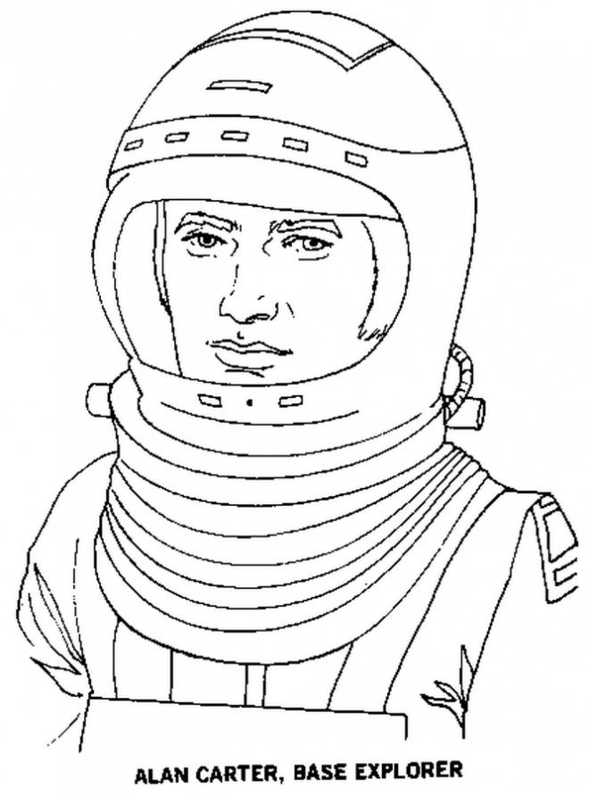 Free coloring and drawings Adult cosmonaut Coloring page