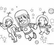 Free coloring and drawings Animals Astronauts Coloring page