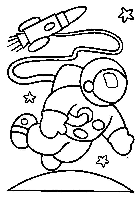 Free coloring and drawings Astronaut Outfit Coloring page