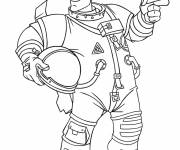 Free coloring and drawings Astronaut wears his helmet Coloring page
