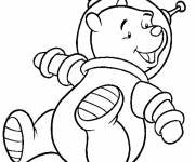 Free coloring and drawings Bear Astronaut Coloring page