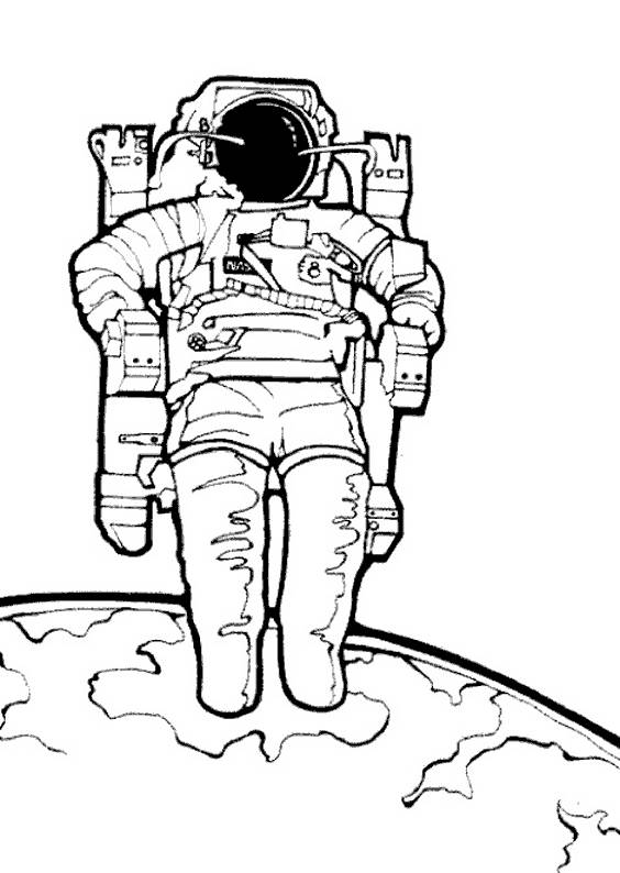 Free coloring and drawings Color astronaut Coloring page
