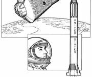 Coloring pages Cosmonaut for children