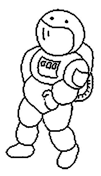 Free coloring and drawings Easy child drawing astronaut Coloring page