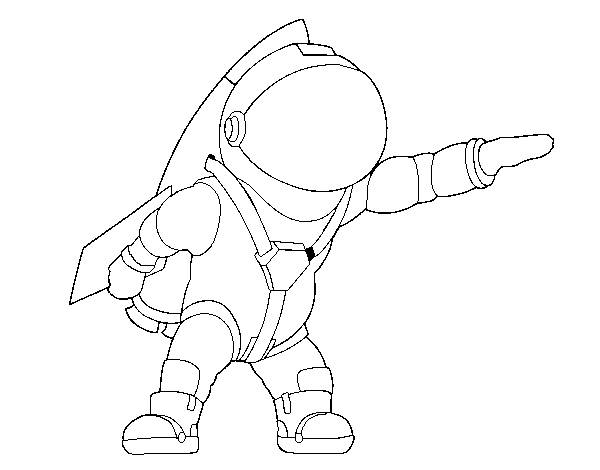 Free coloring and drawings Easy drawing astronaut Coloring page