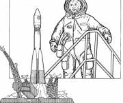 Coloring pages Spaceship