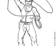 Coloring pages Classic cowboy