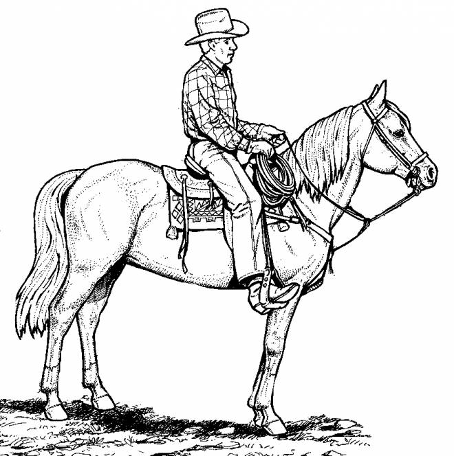 Free coloring and drawings Color cowboy Coloring page