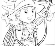 Free coloring and drawings Cowboy and lasso online Coloring page