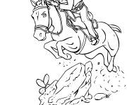 Free coloring and drawings Cowboy and the fast horse Coloring page