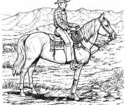 Coloring pages Cowboy and West