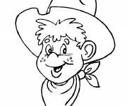 Coloring pages Cowboy child drawing