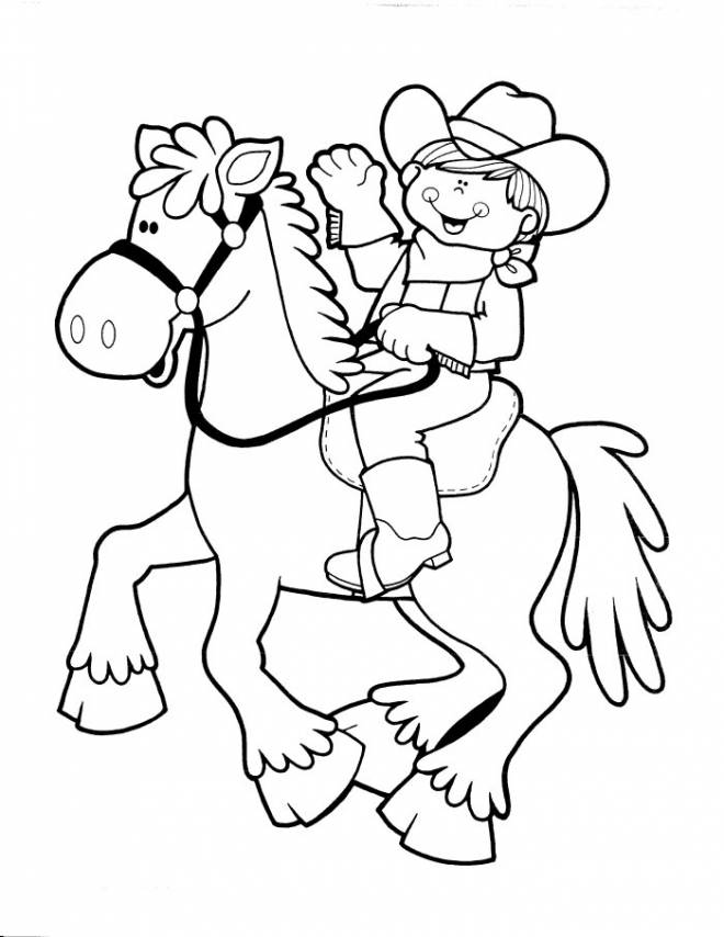 Free coloring and drawings Cowboy Disney Coloring page
