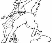 Coloring pages Cowboy drawing to download