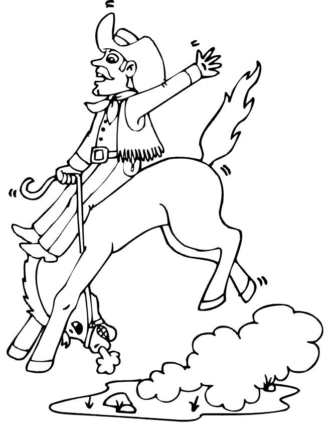 Free coloring and drawings Cowboy drawing to download Coloring page