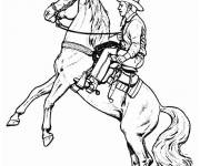 Coloring pages Cowboy horse Drawing