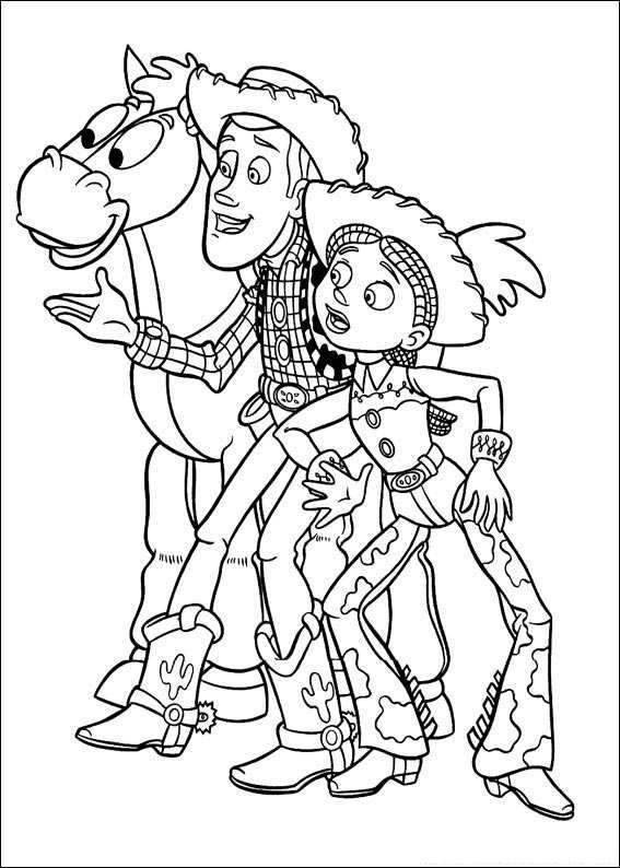 Free coloring and drawings Cowboys and their horse Coloring page