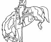 Coloring pages Cowgirl horse