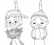 Coloring pages Little Cowboy and Indian