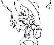 Coloring pages Old cowboy