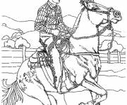 Coloring pages Western Cowboy