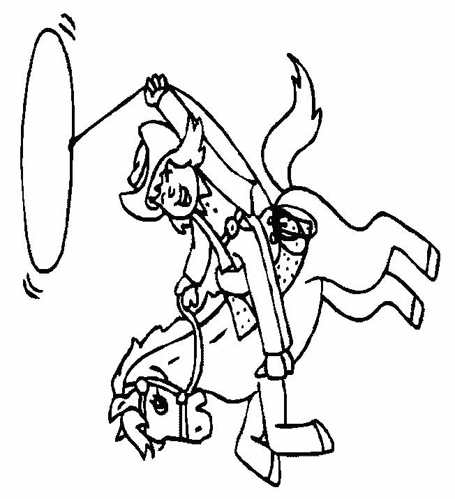 Free coloring and drawings Wild West Cowboy Coloring page