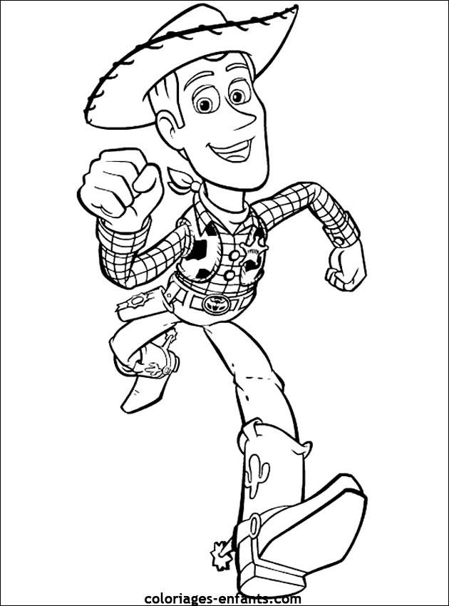 Free coloring and drawings Woody Toy Story Coloring page