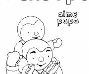 Coloring pages Charley loves dad
