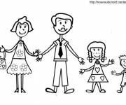 Coloring pages Dad and family