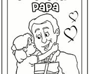 Coloring pages The Girl expresses her love to her Dad
