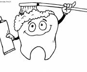 Coloring pages A funny Toothbrush