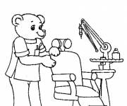 Coloring pages Bear Dentist