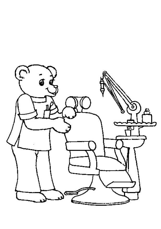 Free printable Dentist coloring pages