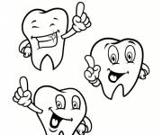 Coloring pages Dental health