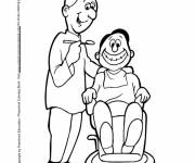 Coloring pages Dentist and patient