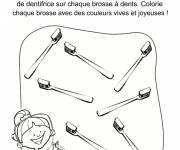 Coloring pages Dentist toothbrushes