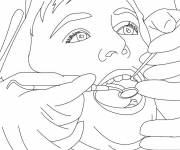 Coloring pages Flossing