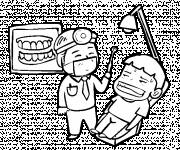Coloring pages Funny drawing dentist