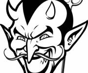 Free coloring and drawings Devil is very scary Coloring page