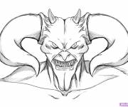 Free coloring and drawings Devil with his horns Coloring page