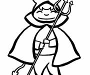 Free coloring and drawings Little devil costume Coloring page