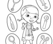 Coloring pages Doctor and health