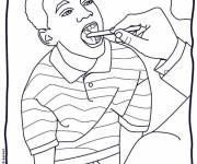Coloring pages Doctor and kid's health