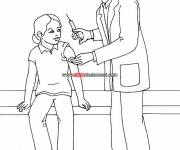 Coloring pages Doctor and syringe