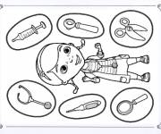 Coloring pages Doctor plush online