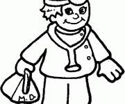 Coloring pages Easy doctor